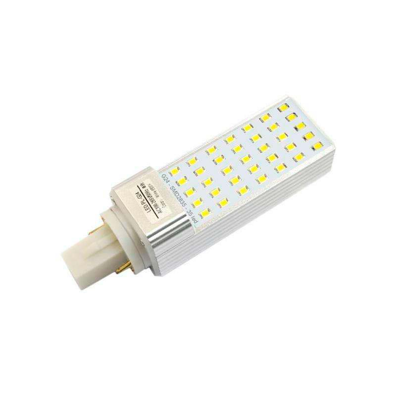 Bombilla Led G24 (2 pin) SMD2835, 8W, Blanco neutro